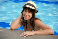 Free Happy Woman In Pool Royalty Free Stock Photo - 19480395