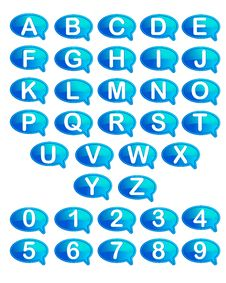 Free Set Of Alphabet And Number Royalty Free Stock Image - 19481386