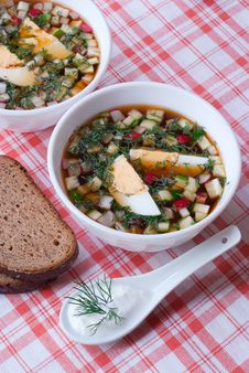 Free Cold Summer Soup Okroshka. Stock Photo - 19481550