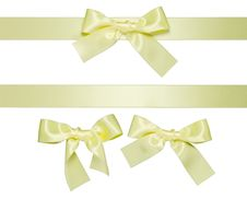 Free Yellow Multiple Ribbons With Bow Stock Photos - 19482133