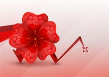 Free Abstract Background. Red Flower. Stock Photo - 19483210