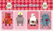 Free Cartoon Robot Card Stock Images - 19483484
