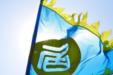 Free Chinese Flags In The Sun Royalty Free Stock Images - 19483619