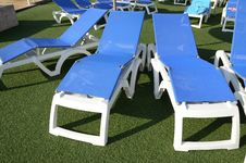 Free Chairs At Poolside Royalty Free Stock Photography - 19485957
