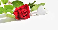 Free Red Rose And Hearts Royalty Free Stock Images - 19485979