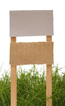 Free Cardboard Sign With Grass Stock Images - 19486344