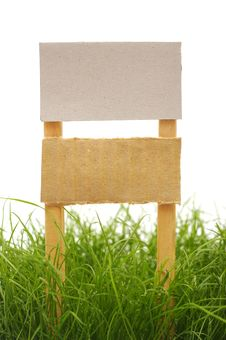 Free Cardboard Sign Royalty Free Stock Photography - 19486387