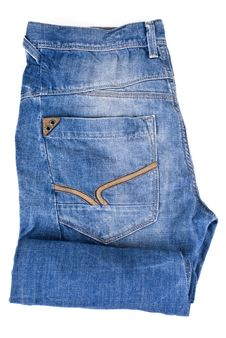 Free Blue Jeans - Isolated Stock Photo - 19486400