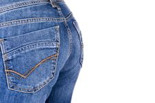 Free Women Wearing A Pair Of Blue Jeans Royalty Free Stock Image - 19486516