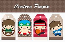 Free Cartoon Sport People Card Stock Image - 19487871