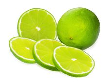 Free Lime On White Background Royalty Free Stock Photography - 19487997