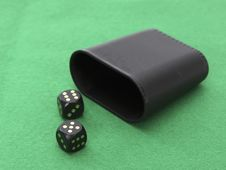 Free Dice With Dice Cup Stock Photos - 19488103
