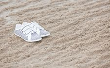 Free Shoes On A Beach Royalty Free Stock Photography - 19488397