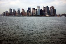Free View Of Manhattan From A Staten Island Ferry Stock Image - 19489321