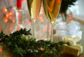 Free Champagne In Glasses And Gifts Royalty Free Stock Photos - 19491568