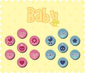 Free Baby Buttons Royalty Free Stock Images - 19496479