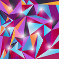 Free Multicolor Triangle Texture Stock Photography - 19496862