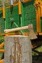 Free Axe In Log Stock Photos - 19497713