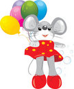 Free Mouse Toy With Colorful Balloons Stock Image - 19498061