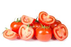 Red Fresh Tomato Isolated On White Royalty Free Stock Photo
