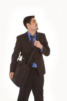 Free Man In Suit Looking Up Royalty Free Stock Image - 19490776
