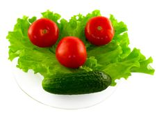 Free The Vegetables Lying On The Plate Stock Image - 19491041