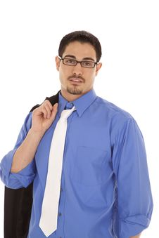 Free Business Man Portrait Blue Shirt Royalty Free Stock Photos - 19491328