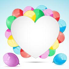Free Bunch Of Balloon With Heart Royalty Free Stock Photo - 19491425