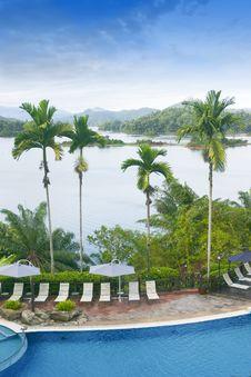 Tropical Jungle Paradise Royalty Free Stock Photo