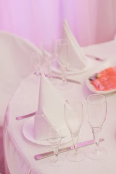 Free Banquet Table Stock Image - 19491861