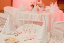Free Banquet Table With Flowers Stock Images - 19491884