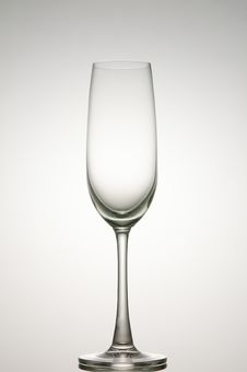 Free Empty Champagne Glass Royalty Free Stock Image - 19491926