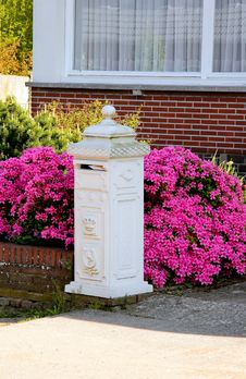 Mailbox In Front Of The House Royalty Free Stock Photo