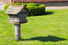 Mailbox In Front Of The House Stock Photography