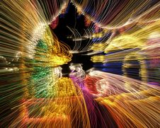 Free Multi Colored Light Show At Night Royalty Free Stock Images - 19493969