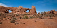 Free South And North Windows In Arches Royalty Free Stock Photography - 19494137