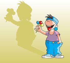 Free Cartoon Boy Royalty Free Stock Images - 19494699
