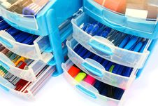 Stationery Drawers Royalty Free Stock Photo