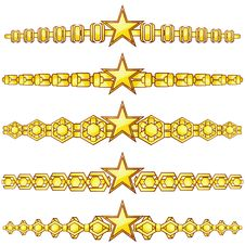 Gold Dividers With Star Royalty Free Stock Image