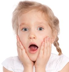 Free Surprised Little Girl Royalty Free Stock Photo - 19495875