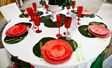 Free Dinner Table Setup - Italian Style Royalty Free Stock Photo - 19496135
