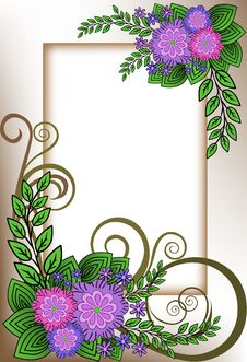 Free Frame Of Lilac Flowers Stock Photos - 19496143