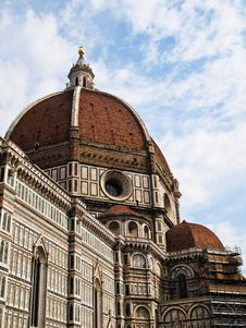 Dome Of The Florence Duomo , Italy Stock Image
