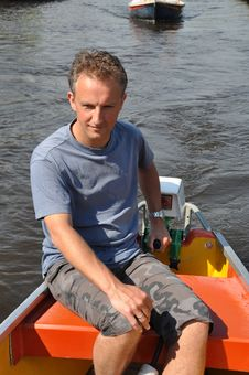 Free Boatman  At The Helm Royalty Free Stock Photos - 19496968