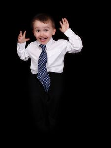 Free Expressive Little Boy Making Funny Face. Isolated Royalty Free Stock Photo - 19497435