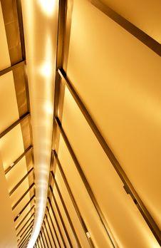 Free Footbridge Indoor Perspective Royalty Free Stock Photos - 19497458