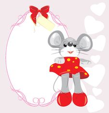 Free Greeting Card With Mouse Toy Stock Images - 19498044