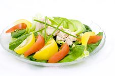 Free Spinach. Tuna, Avocado Salad Royalty Free Stock Image - 1950326