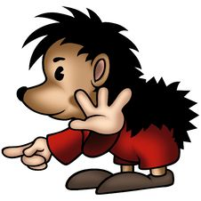 Hedgehog 04 With Red Trousers Royalty Free Stock Photos