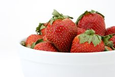 Free Close-up Bowl Of Strawberries Stock Image - 1950451